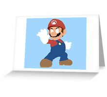 Simplistic Mario  Greeting Card