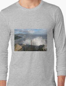 Lyme Regis Seascape 2 - January 2016 Long Sleeve T-Shirt