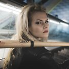 Bad, Beautiful and sexy blonde with a baseball bat by Fernando Cortés