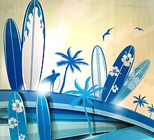 surfboard  background  by Doomko