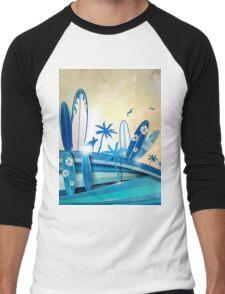 surfboard  background  Men's Baseball ¾ T-Shirt