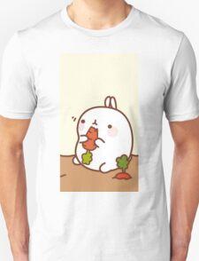 kawaii molang munching Unisex T-Shirt