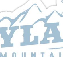 The X Files: Skyland Mountain (Sky Blue) Sticker