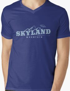 The X Files: Skyland Mountain (Sky Blue) Mens V-Neck T-Shirt