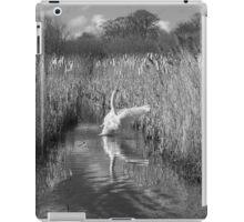 Swan Landscape Monochrome iPad Case/Skin