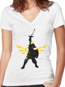 Skyward Stance Women's Fitted V-Neck T-Shirt