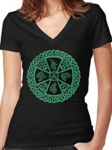 Celtic Nature Women's Fitted V-Neck T-Shirt