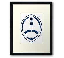 Blue Vector Football Framed Print