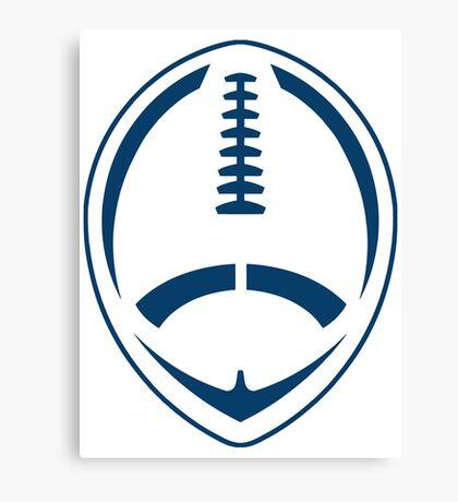 Blue Vector Football Canvas Print