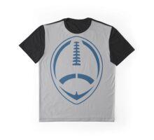 Blue Vector Football Graphic T-Shirt