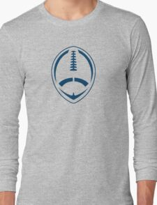 Blue Vector Football Long Sleeve T-Shirt