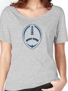 Blue Vector Football Women's Relaxed Fit T-Shirt