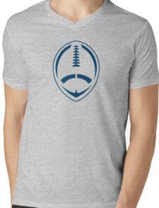 Blue Vector Football Mens V-Neck T-Shirt