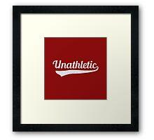 Unathletic Framed Print