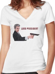 Lord President Women's Fitted V-Neck T-Shirt