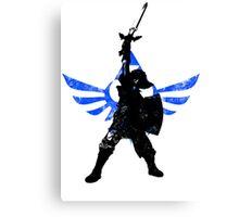 Skyward Stance - Blue Canvas Print