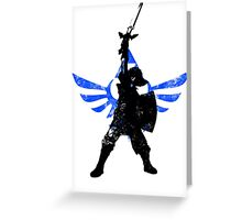 Skyward Stance - Blue Greeting Card