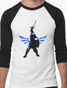 Skyward Stance - Blue Men's Baseball ¾ T-Shirt