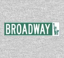 Broadway (with Statue of Liberty), Street Sign, NYC One Piece - Long Sleeve