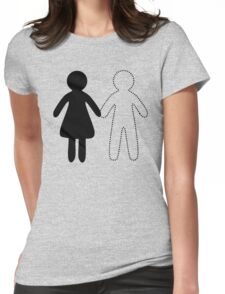 Missing half (Part I - boy) Womens Fitted T-Shirt