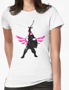 Skyward Stance - Pink Womens Fitted T-Shirt