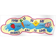 Animals are to love! Poster