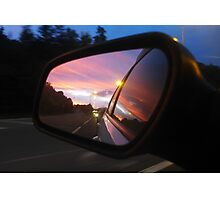Leaving the sun behind Photographic Print