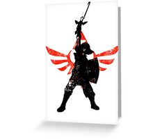 Skyward Stance - Red Greeting Card