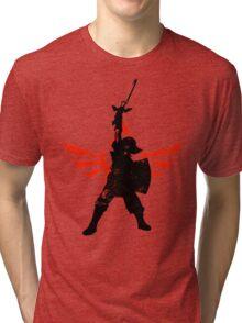 Skyward Stance - Red Tri-blend T-Shirt