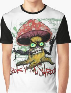 The Face of Spooky Mushroom Graphic T-Shirt