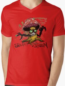 The Face of Spooky Mushroom Mens V-Neck T-Shirt