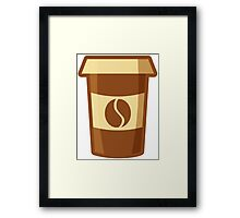 Fancy Paper Coffee Cup Framed Print