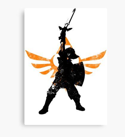 Skyward Stance - Orange Canvas Print