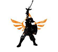 Skyward Stance - Orange Photographic Print