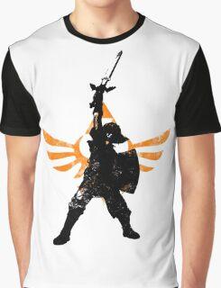 Skyward Stance - Orange Graphic T-Shirt