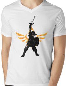 Skyward Stance - Orange Mens V-Neck T-Shirt
