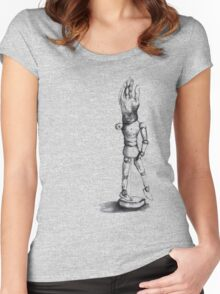 sketch doll Women's Fitted Scoop T-Shirt