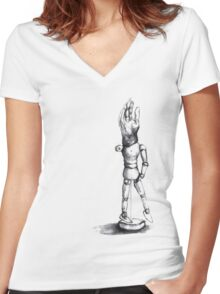 sketch doll Women's Fitted V-Neck T-Shirt