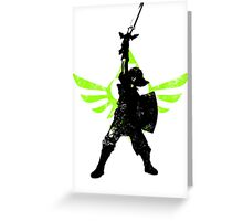Skyward Stance - Green Greeting Card