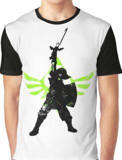 Skyward Stance - Green Graphic T-Shirt