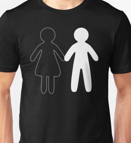 Missing half in chalk (Part II - girl) Unisex T-Shirt