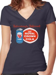 ROYAL CROWN COLA 7 Women's Fitted V-Neck T-Shirt