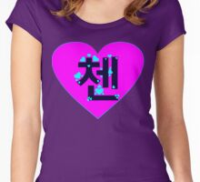 ♥♫I Love EXO-M Chen Clothes & Stickers♪♥ Women's Fitted Scoop T-Shirt
