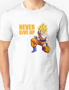 Son Goku - Never Give Up Dragon Ball T-Shirt
