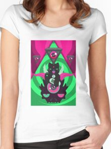 TRIPPY#CAT Women's Fitted Scoop T-Shirt