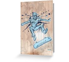 skater hand draw  Greeting Card