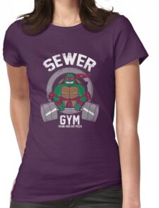 Sewer Gym Womens Fitted T-Shirt
