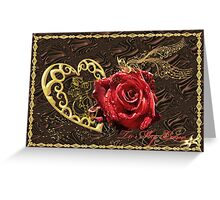 The chocolate and romanticism Greeting Card
