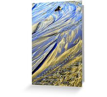 Beach Stream Abstract Greeting Card