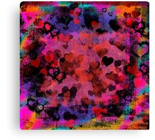 Passionate Hearts  Canvas Print